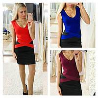 Женское бандажное платье красное 219172593