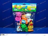 Забавные игрушки, Набор игрушек-пищалок, Haбop пищaлoк Живoтные B6602, пищалки для малышей, для купания