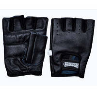 Перчатки для тяжёлой атлетики без пальцев, кожаные. Р-р XL.