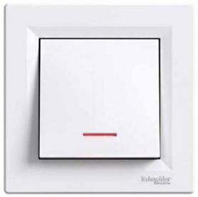 Выключатель 1- с подсветкой белый Шнайдер Asfora EPH1400121