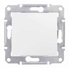 Выключатель 1- проходной белый  Шнайдер Sedna SDN0400121