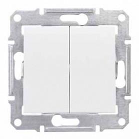Выключатель 2- белый  Шнайдер Sedna SDN0300121