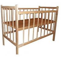 Кроватка деревянная простая КФ