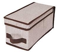 Коробка для хранения вещей Класик с крышкой (30х15х15см)