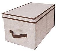 Коробка для хранения вещей Класик с крышкой (40х30х25см)