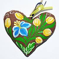 Валентинка сине-желтая. Петриковский цветок