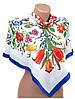 Шикарный женский платок из шелка размером 90*90 20492-D2 (белый)