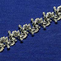 Широкий женский серебряный браслет Ангелы 5002