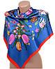 Универсальный женский платок из шелка размером 90*90 20492-D6 (синий)