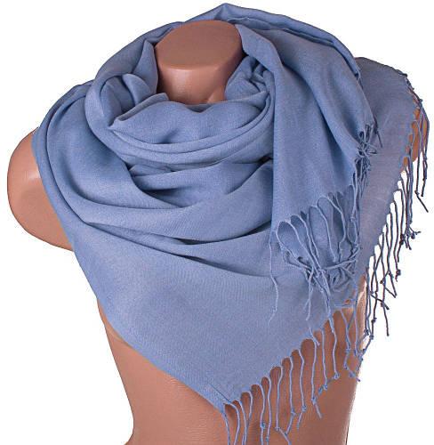 Шерстяной женский палантин сине-фиолетовый 174 на 67,5 см ETERNO (ЭТЕРНО) SAT11018-1