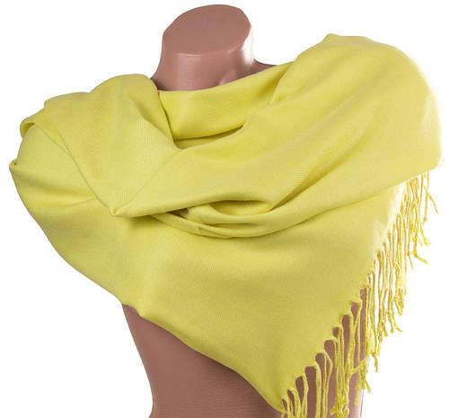 Благородный желтый женский палантин из пашмины 172 на 74 см ETERNO (ЭТЕРНО) SAT12061