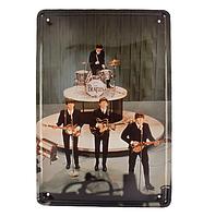 Ретро табличка металлический постер The Beatles 1964
