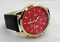 Мужские  часы  FERRARI - красный циферблат