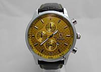 Мужские  часы  FERRARI - серебристый с желтым циферблатом