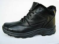 """Ботинки мужские кожаные с набивной шерстью """"Массовка- шнурок"""""""