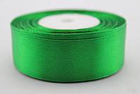 Лента (атлас) 2,5 см цвет - зеленый