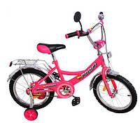 Велосипед Профи Пилот 18 дюймов розовый Profi Pilot велосипед двухколесный