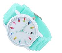 """Женские часы GENEVA Женева с силиконовым браслетом ремешком, """"Бирюзовые""""часы наручные женские недорогие"""