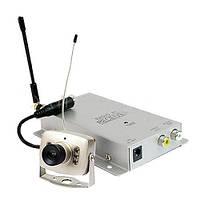 Комплект беспроводного видеонаблюдения 211+208: радиокамера + приёмник, 1,2 Ггц, до 50м, видео/аудио