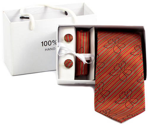 Повседневный мужской комплект из шелка ETERNO (ЭТЕРНО) A-445 красный