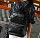 Женский городской рюкзак из кожзама 17 л. URBANSTYLE, 091 черный, фото 5