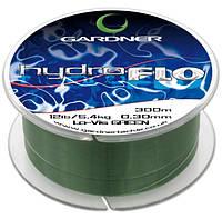 Gardner Леска карповая HYDRO-FLO (Леска карповая HYDRO-FLO 12lb (5.4kg) GREEN, 0.30mm (300m))