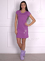 Трикотажное женское платье для дома и сна от украинского производителя