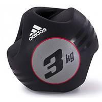 Медбол с захватом Adidas 3кг (ADBL-10412)
