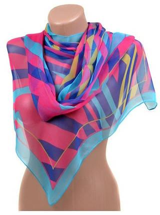 Выразительный женский шарф 50 на 160 полиэстер 10122-A6