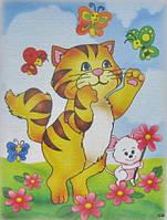 "Картина раскраска ""Кошки мышки"""