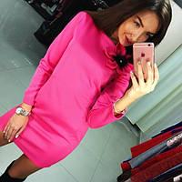 Вечернее платье с длинным рукавом розовое (арт. 223480860)