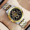 Модные наручные часы Rolex Quartz 030G Silver-gold/Black 2093