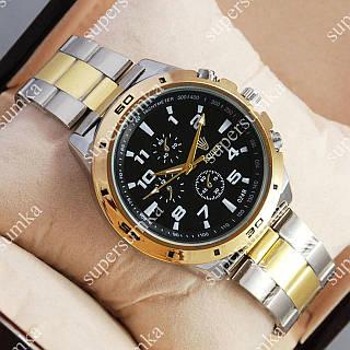 Практичные наручные часы Rolex Quartz 024 Silver-gold/Black 2094