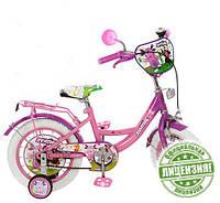 Велосипед Лунтик 16 дюймов детский двухколесный с белыми покрышками