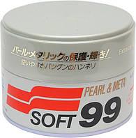 Твердый воск SOFT99 Pearl & Metallic - для а/м цвета металлик и жемчужный
