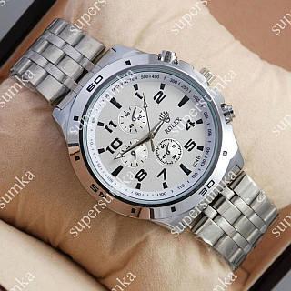 Яркие наручные часы Rolex Quartz 024 Silver/White 20006