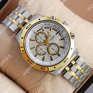 Модные наручные часы Rolex Quartz 024 Silvr-gold/Silver 20007