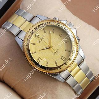 Классические наручные часы Rolex Quartz 022 Silver-gold/Gold 20012