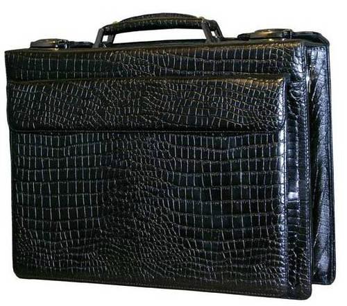Стильный мужской кожаный портфель-кейс 601328 черный