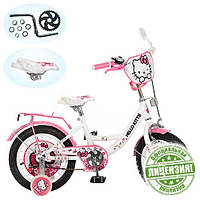 Велосипед Хеллоу Китти 12 дюймов Hello Kitty детский двухколесный