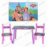Столик+2 стульчика,Детский столик М 2261 София,Столик Bambi,детские наборы,парты,исправить осанку
