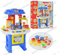Детская игрушечная кухня 08912 со световыми и звуковыми эффектами,открывается духовка,овощи.Тематический набор