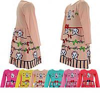 Детское платье для девочки (с кошечкой) 2-4 лет