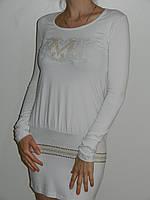 Туника женская трикотажная с длинным рукавом тонкая 2 цвета рр. М Lady's&More Турция