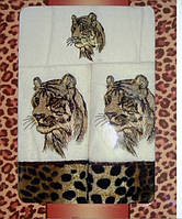 Комплект полотенец Тигр 0068