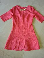 Платье женское коралловое