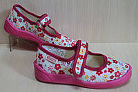 Тапочки в садик на девочку, текстильная обувь Vitaliya Виталия Украина, размеры 28-31,5.