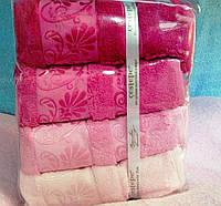 Подарочный набор бамбуковых полотенец в сумочке 0069