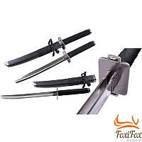 Сувенирный японский меч катана с двумя лезвиями