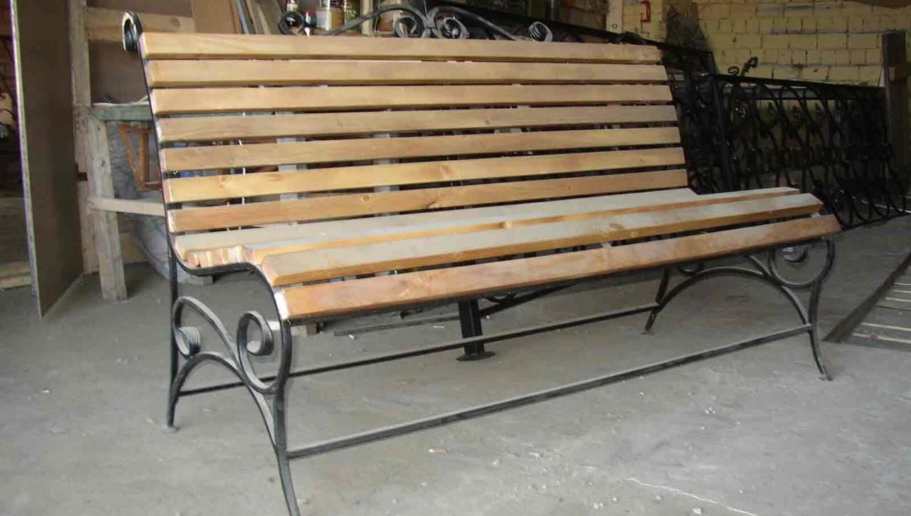 Скамейки для дачи своими руками из металла чертежи фото